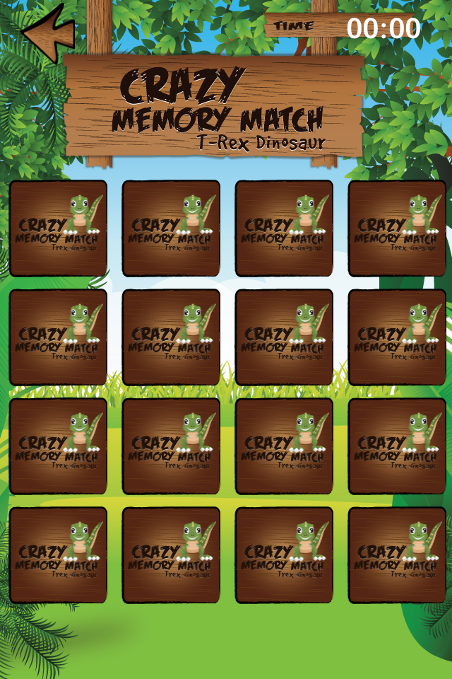 Screenshot Crazy Memory Match T-Rex Dinosaur